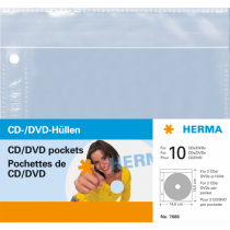 HERMA CD/DVD-Hüllen, 145x135 mm 5 Hüllen