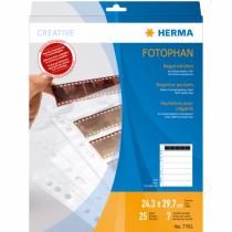 HERMA Negativhüllen, transparent, für 7 x 5 Streifen, 25 St.