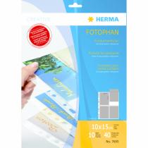 HERMA Postkartenhüllen, transparent, Folie 10 St.