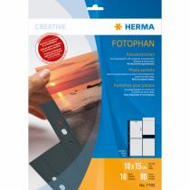 HERMA Fotophan Fotosichthüllen 10x15 cm hoch schwarz 10 Hüllen