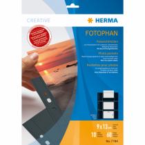 HERMA Fotophan Fotosichthüllen 9x13 cm quer schwarz 10 Hüllen