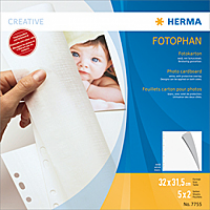 HERMA Fotokarton, 320x315 mm, weiß, 5 Blatt