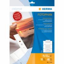 HERMA Fotophan Fotosichthüllen 9x13 cm quer weiß 10 Hüllen