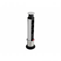 Equip 333304 Stromverteilereinheit (PDU) Schwarz, Silber 3 AC-Ausgänge