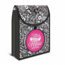 HERMA Flexi Bag Dateiablagebox Polypropylen (PP), Gummi Schwarz, Pink