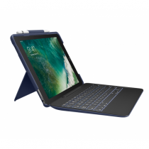 Logitech Slim Combo Tastatur für Mobilgeräte QWERTY Italienisch Blau Smart Connector
