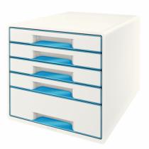 Leitz Wow Cube Schubladenordnungssystem Kautschuk Blau, Weiß