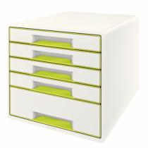 Leitz Wow Cube Schubladenordnungssystem Kautschuk Grün, Weiß