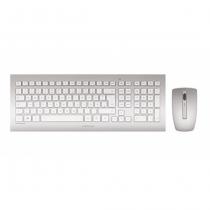 CHERRY DW 8000 Tastatur RF Wireless QWERTZ Deutsch Silber, Weiß