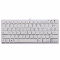 R-Go Tools R-Go Compact Tastatur, AZERTY (BE), weiß, kabelgebunden