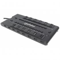 Manhattan MondoHub II USB 2.0 5000 Mbit/s Schwarz