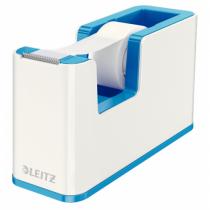 Leitz 53641036 Klebefilm-Abroller Polystyrene Blau, Metallisch