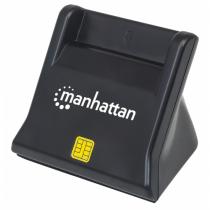Manhattan 102025 Smart-Card-Lesegerät Indoor Schwarz USB 2.0