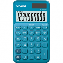 Casio SL-310UC-BU Taschenrechner Tasche Einfacher Taschenrechner Blau