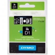 DYMO D1 - Standardetiketten - Weiß auf Schwarz - 24mm x 7m
