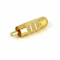 StarTech.com RCA to F Type Coaxial Adapter, M/F Koaxialstecker
