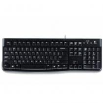 Logitech K120, HU Tastatur USB QWERTZ Ungarisch Schwarz