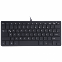 R-Go Tools R-Go Compact Tastatur, QWERTZ (DE), schwarz, kabelgebunden