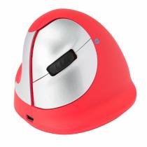 R-Go Tools R-Go HE Sport, Ergonomische Maus, Mittel (Handlänge 165-185mm), linkshändig, Bluetooth, Rot