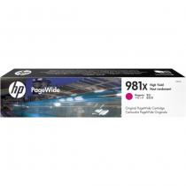 HP Cartucho PageWide magenta de alto rendimento 981X original