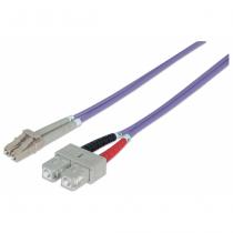 Intellinet 751049 Glasfaserkabel 1 m OM4 LC SC Violett
