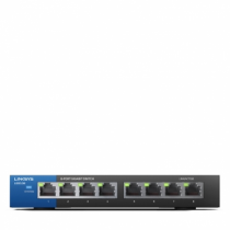 Linksys LGS108 Unmanaged Gigabit Ethernet (10/100/1000) Schwarz, Blau
