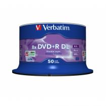 Verbatim DVD+R Double Layer 8x Matt Silver 50pk Spindle 8,5 GB DVD+R DL 50 Stück(e)