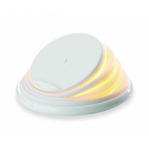 Conceptronic GORGON Kabelloses Ladegerät, 10W, Faltbarer Ständer, LED, weiß