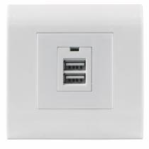 Intellinet 772181 Steckdose 2x USB Weiß