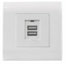 Intellinet 772211 Steckdose USB A Weiß