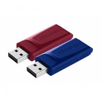 Verbatim Slider - USB-Stick - 2x32 GB, Blau, Rot