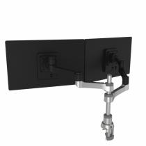 R-Go Tools R-Go Zepher 4 C2, nachhaltiger Doppel Monitor Arm, Tischhalterung, Justierbar, nachhaltiger Doppel Monitor Arm, 8 kg Tragkraft, schwarz/silber, geringer CO2 Fußabdruck