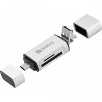 Sandberg Card Reader USB-C+USB+MicroUSB Kartenleser