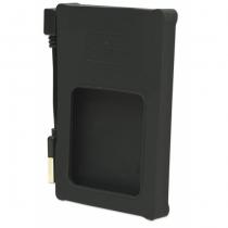"Manhattan Festplattengehäuse, Hi-Speed USB 2.0, SATA, 2,5"", schwarz, Silikon"