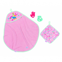 BABY born Bath Hooded Towel Set Puppenbadeset