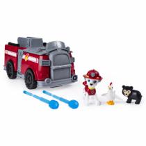 PAW Patrol Ride N Rescue Feuerwehrauto Marshall - verwandlungsfähiges 2 - in - 1 - Fahrzeug und Spielset