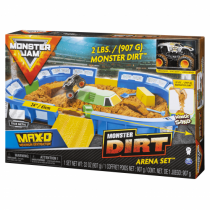 Monster Jam Monster Dirt Arena, riesiges Spielset mit Monster Dirt - Sand und exklusivem Truck (Maßstab 1:64)