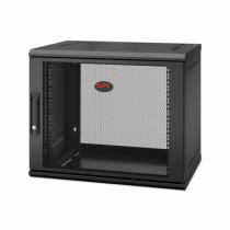 APC NetShelter WX 9U Single Hinged Wall-mount Enclosure 400mm Deep. Wandmontiertes Regal Schwarz