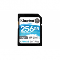Kingston Technology Canvas Go! Plus Speicherkarte 256 GB SD Klasse 10 UHS-I