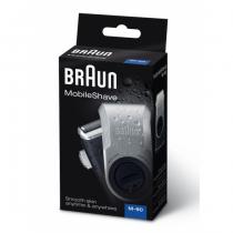 Braun MobileShave PocketGo M90 Blau, Silber