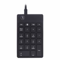 R-Go Tools RGOCONMWDBL Numerische Tastatur Universal USB Schwarz