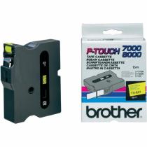 Brother TX-641 Etiketten erstellendes Band Schwarz auf gelb