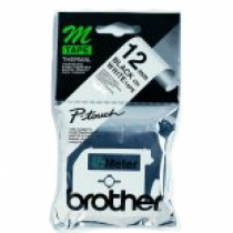 Brother Labelling Tape - 12mm, Black/White, Blister Etiketten erstellendes Band M