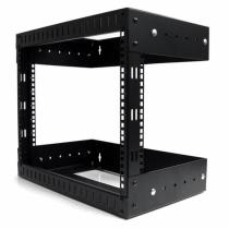 "StarTech.com 8HE 19"" Open Frame Geräte Rack Wandmontagefähig - Tiefenverstellbar"