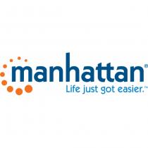 Manhattan SINGLE EAR BLUETOOTH HEADSET INTEGRATED CONTROLS BLACK Schwarz