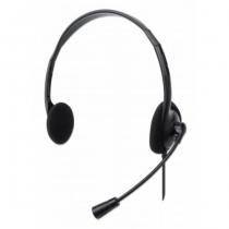 Manhattan Stereo USB-Headset, Federleichtes, ohraufliegendes Design (On-Ear), kabelgebunden, USB-A-Stecker, verstellbares Mikrofon, schwarz, Retail-Verpackung