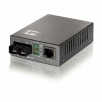 LevelOne 10/100BASE-TX auf 100BASE-FX Multi-Mode SC Fiber Konverter (mit PoE)