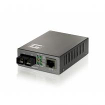 LevelOne 10/100BASE-TX auf 100BASE-FX Single-Mode SC Fiber Konverter (mit PoE)