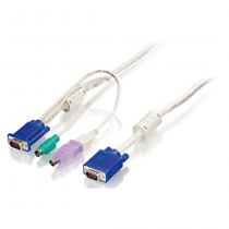 LevelOne 1.8m PS/2 und USB KVM Kabel